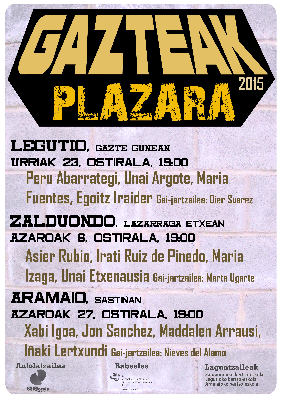 Gazteak Plazara egitasmoa ostiral honetan abiatuko da