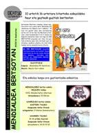 Mendialdea Urtekaria 2015-16