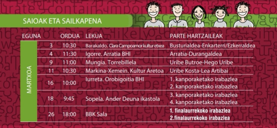 2020-03-02 BBK Sariketa. Egutegia