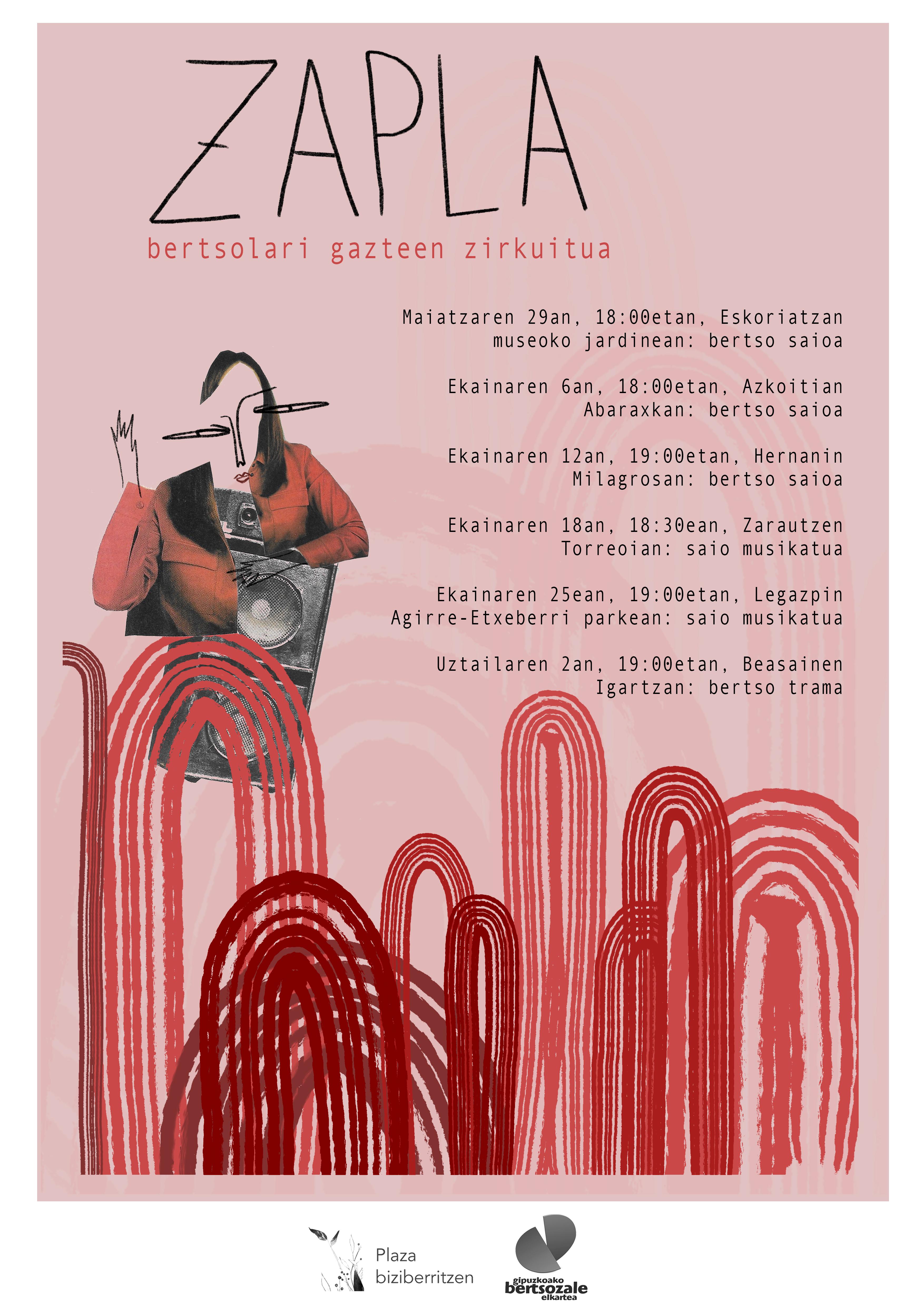 Bertsolari gazteen plazaratzean eragin asmoz Zapla bertso zirkuitua antolatu da Gipuzkoan